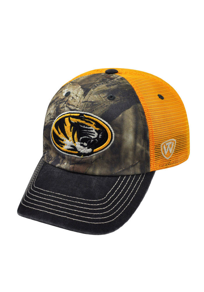 Top of the World Missouri Tigers Mens Green 8-Point 3 Tone Adjustable Hat - Image 1