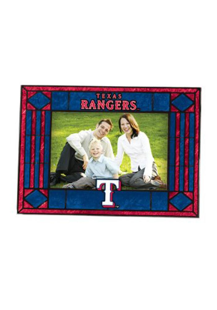 Texas Rangers Art-Glass Horizontal Picture Frame - Image 1