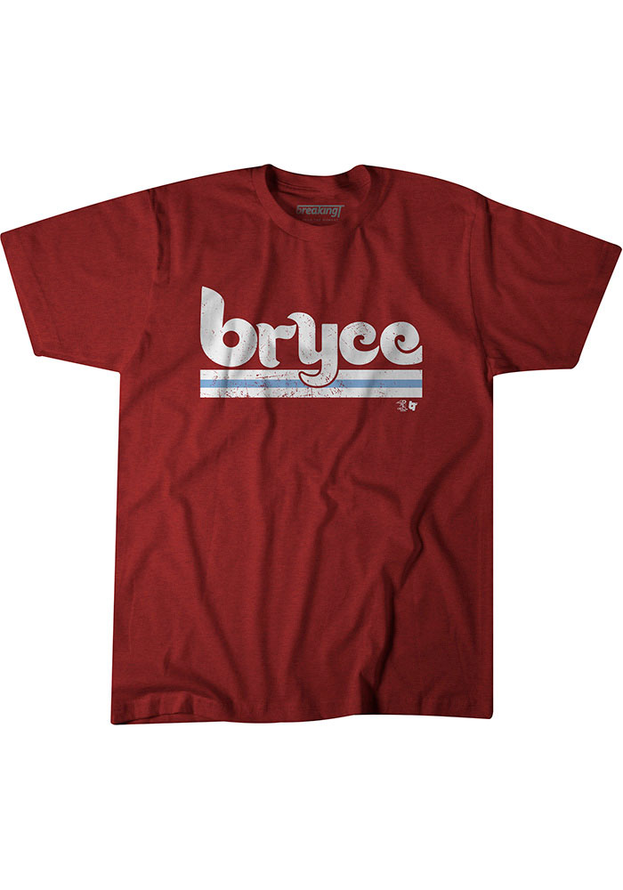 Bryce Harper Maroon Philly Short Sleeve Fashion Player T Shirt - Image 1