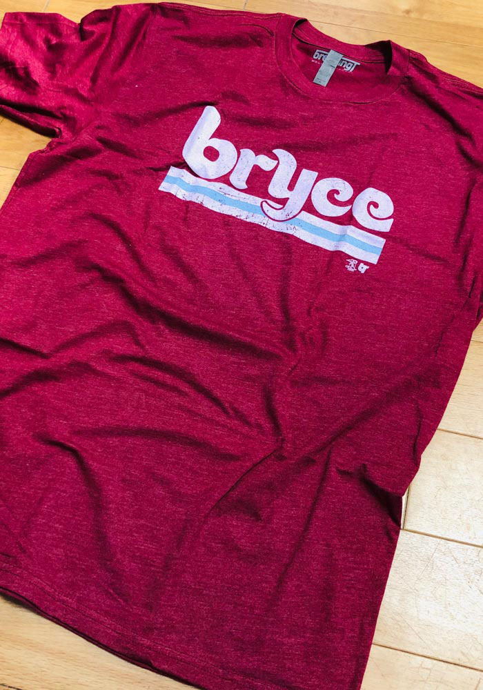 Bryce Harper Maroon Philly Short Sleeve Fashion Player T Shirt - Image 2