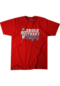 Bryce Harper Red Broad Street Fashion Player Tee