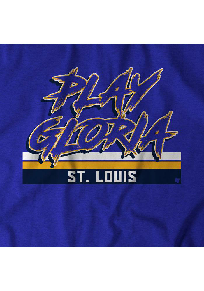 BreakingT Blue Play Gloria STL Short Sleeve Fashion T Shirt - Image 2
