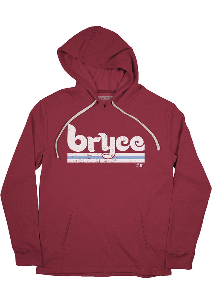 Bryce Harper Mens Maroon Philly Player Hood