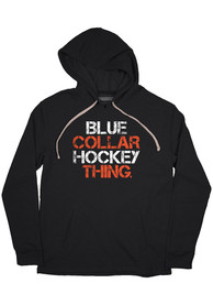 Philadelphia Flyers BreakingT Blue Collar Hockey Hooded Sweatshirt - Black