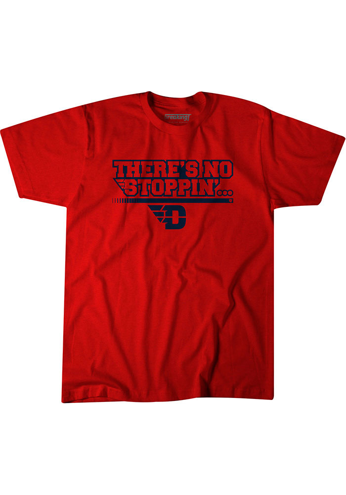 BreakingT Dayton Flyers Red Stoppin Short Sleeve Fashion T Shirt - Image 1