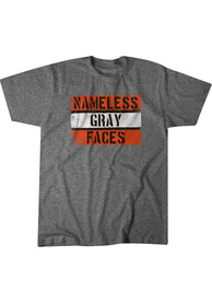 Cleveland Browns BreakingT Nameless Gray Faces Fashion T Shirt - Grey