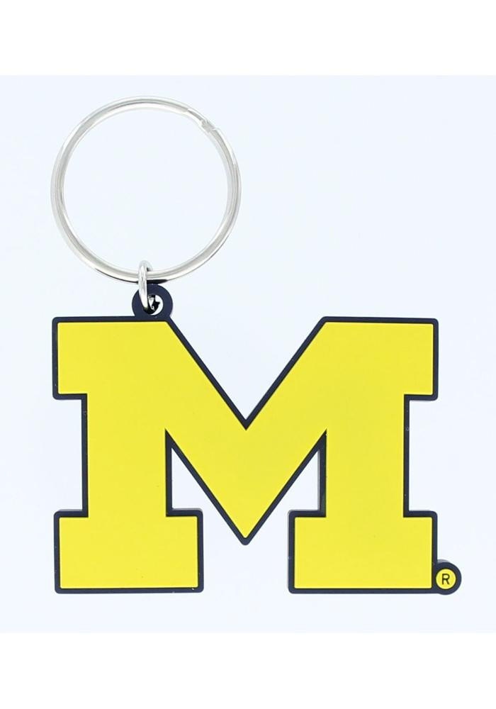 Michigan Wolverines PVC Keychain - Image 1