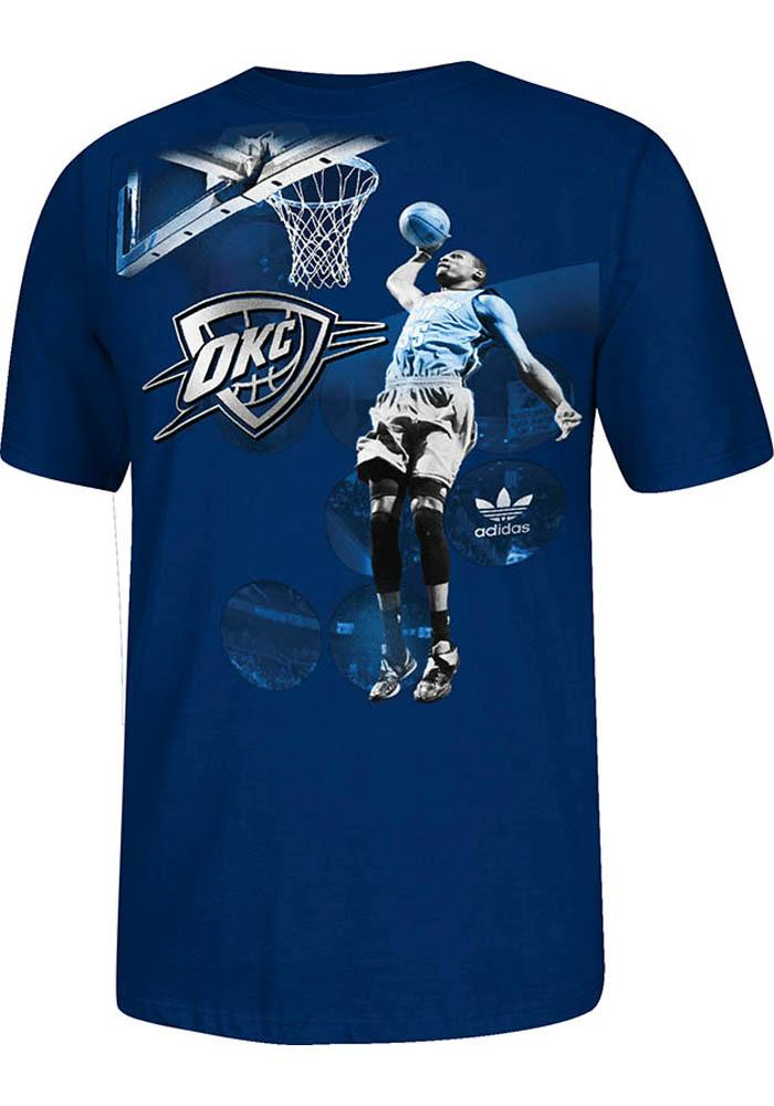 Kevin Durant Oklahoma City Thunder Mens Black Spotlight Short Sleeve Player T Shirt - Image 1