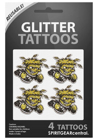 Wichita State Shockers Glitter 4 Pack Tattoo