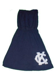 Original Retro Brand Kansas City Monarchs Womens Navy Blue Tube Dress