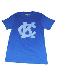 Original Retro Brand Kansas City Monarchs Blue Logo Fashion Tee