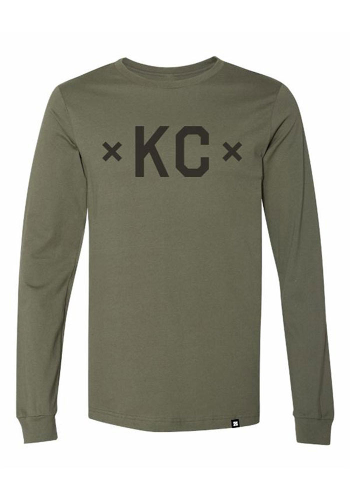 Kansas City Green KC Signature Long Sleeve Fashion T Shirt - Image 1