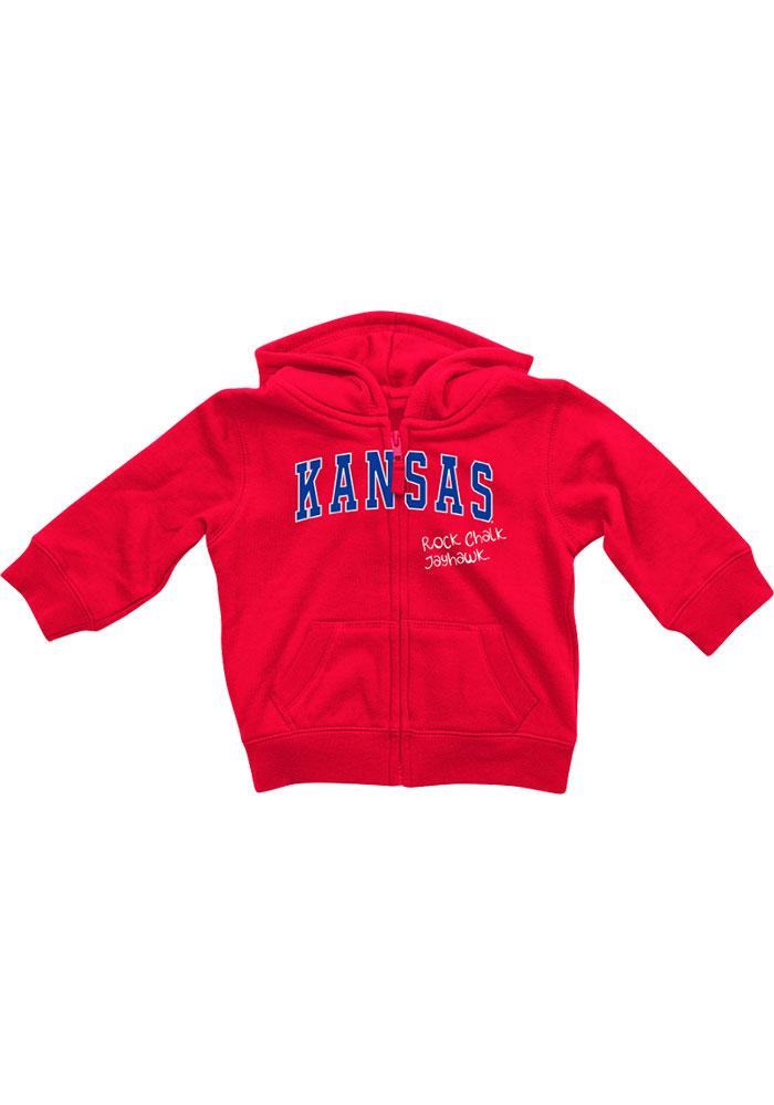 Colosseum Kansas Jayhawks Baby Red Rally Loud Long Sleeve Full Zip Jacket - Image 2
