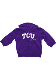 TCU Horned Frogs Baby Colosseum Rally Loud Full Zip Sweatshirt - Purple