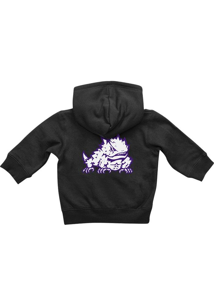 Colosseum TCU Horned Frogs Baby Black Rally Loud Long Sleeve T-Shirt - Image 1