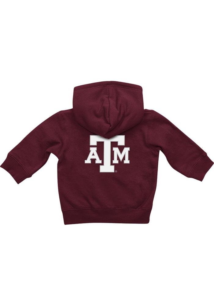 Colosseum Texas A&M Aggies Baby Rally Loud Long Sleeve Full Zip Sweatshirt - Maroon - Image 2