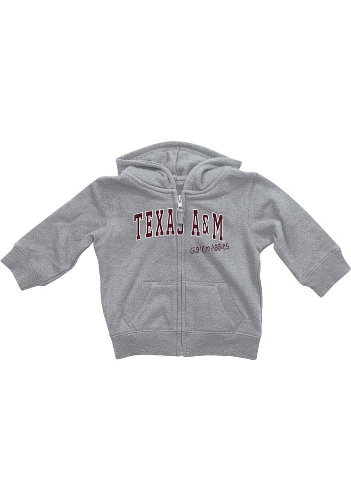 Colosseum Texas A&M Aggies Baby Grey Rally Loud Long Sleeve Full Zip Jacket - Image 2