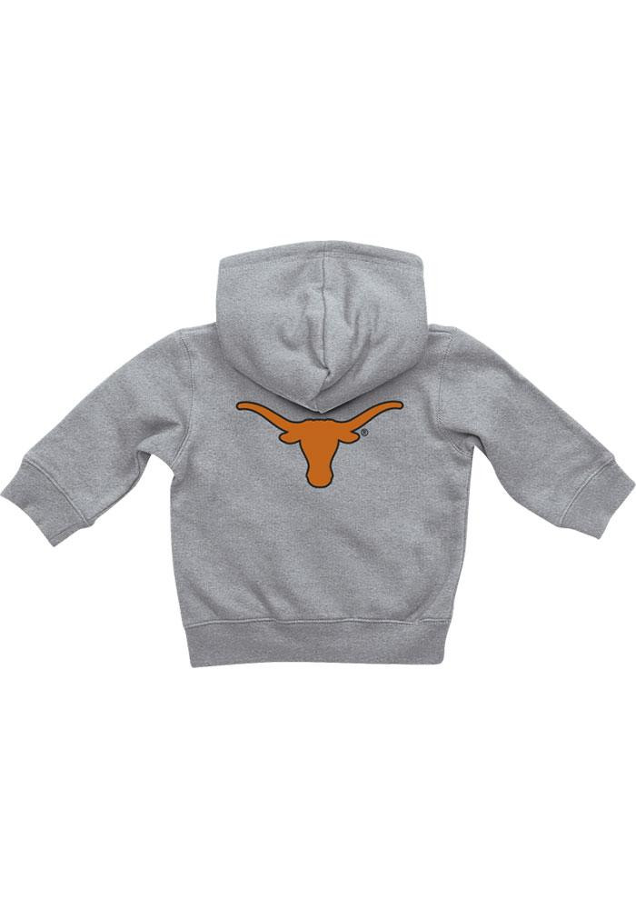 Colosseum Texas Longhorns Baby Grey Rally Loud Long Sleeve Full Zip Jacket - Image 1