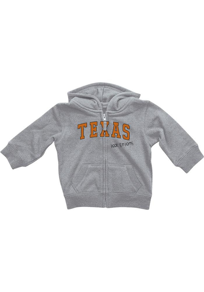 Colosseum Texas Longhorns Baby Grey Rally Loud Long Sleeve Full Zip Jacket - Image 2