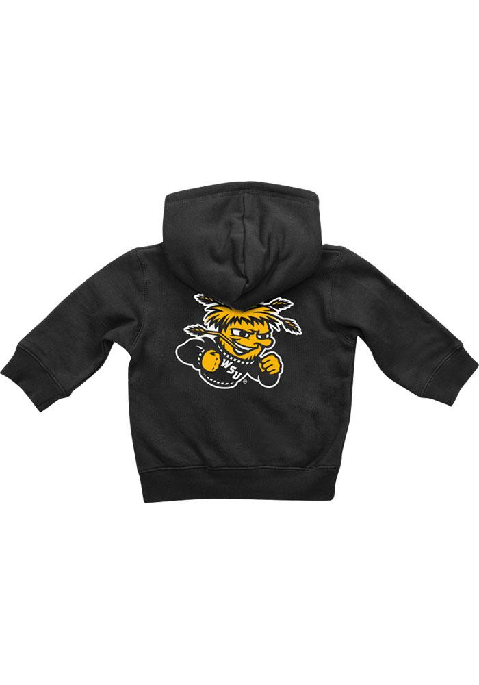 Colosseum Wichita State Shockers Baby Black Rally Loud Long Sleeve Full Zip Jacket - Image 1