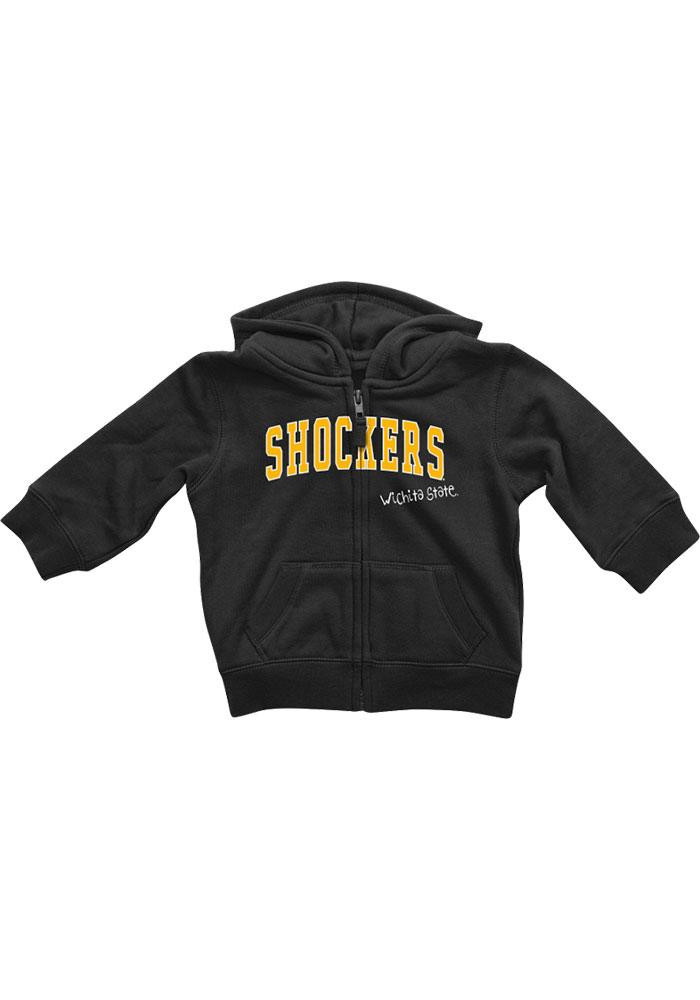 Colosseum Wichita State Shockers Baby Black Rally Loud Long Sleeve Full Zip Jacket - Image 2