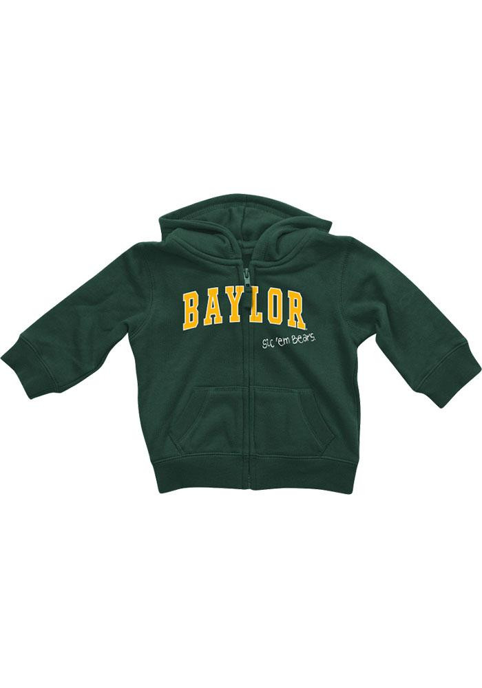 Colosseum Baylor Bears Baby Green Rally Loud Long Sleeve Full Zip Jacket - Image 2