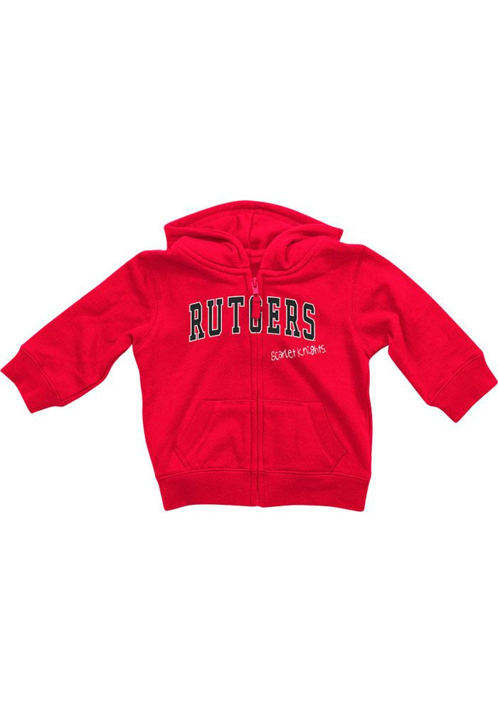 Colosseum Rutgers Scarlet Knights Baby Red Rally Loud Long Sleeve Full Zip Jacket - Image 2