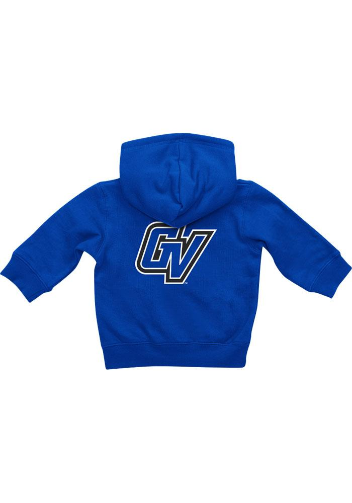 Colosseum Grand Valley State Lakers Baby Blue Rally Loud Long Sleeve Full Zip Jacket - Image 1