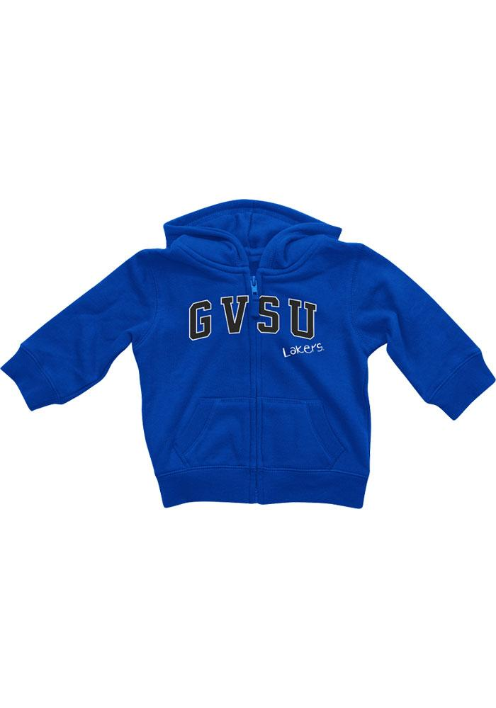 Colosseum Grand Valley State Lakers Baby Blue Rally Loud Long Sleeve Full Zip Jacket - Image 2