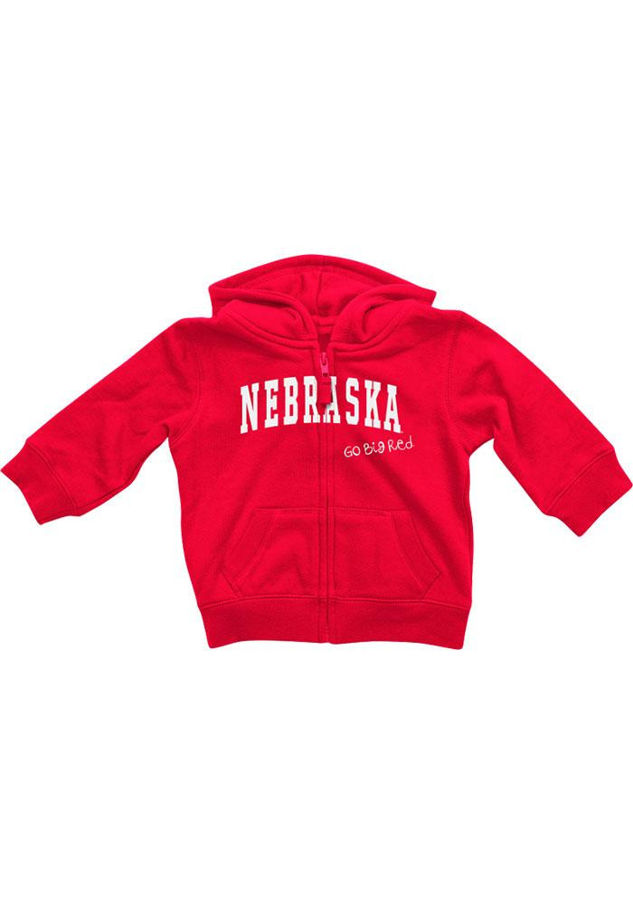 Colosseum Nebraska Cornhuskers Baby Red Rally Loud Long Sleeve Full Zip Jacket - Image 2