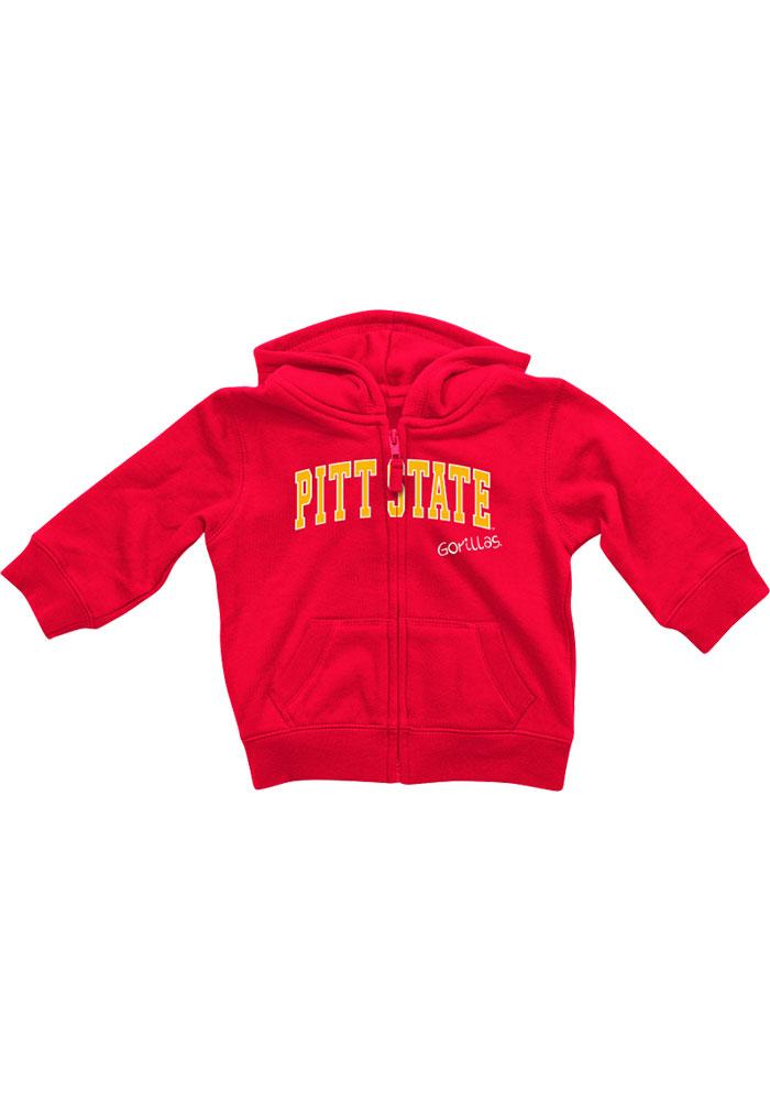 Colosseum Pitt State Gorillas Baby Rally Loud Long Sleeve Full Zip Sweatshirt - Red - Image 1