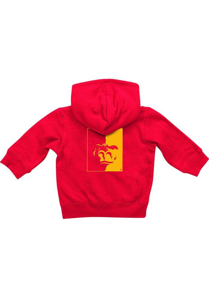 Colosseum Pitt State Gorillas Baby Rally Loud Long Sleeve Full Zip Sweatshirt - Red - Image 2