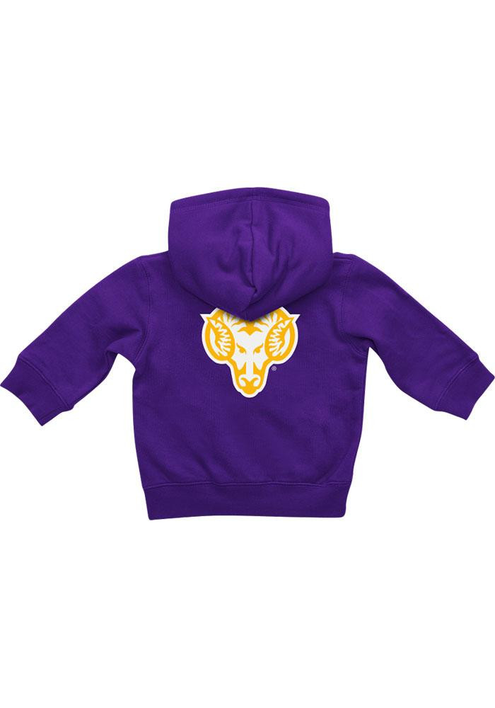 Colosseum West Chester Golden Rams Baby Purple Rally Loud Long Sleeve Full Zip Jacket - Image 1