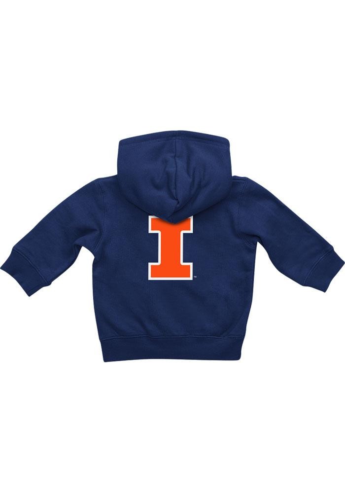 Colosseum Illinois Fighting Illini Baby Navy Blue Rally Loud Long Sleeve Full Zip Jacket - Image 1