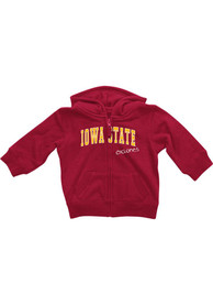 Iowa State Cyclones Baby Colosseum Rally Loud Full Zip Sweatshirt - Cardinal