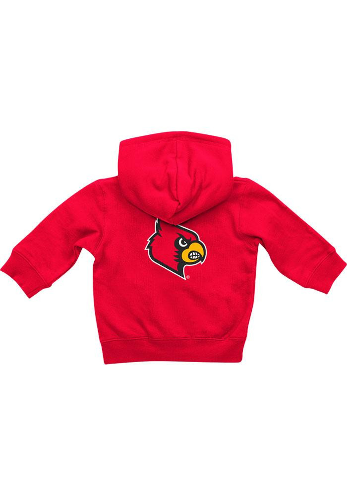 Colosseum Louisville Cardinals Baby Red Rally Loud Long Sleeve Full Zip Jacket - Image 1