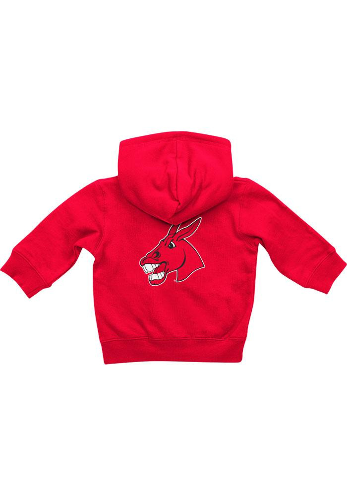 Colosseum Central Missouri Mules Baby Rally Loud Long Sleeve Full Zip Sweatshirt - Red - Image 2