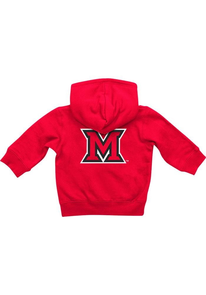 Colosseum Miami Redhawks Baby Red Rally Loud Long Sleeve Full Zip Jacket - Image 1