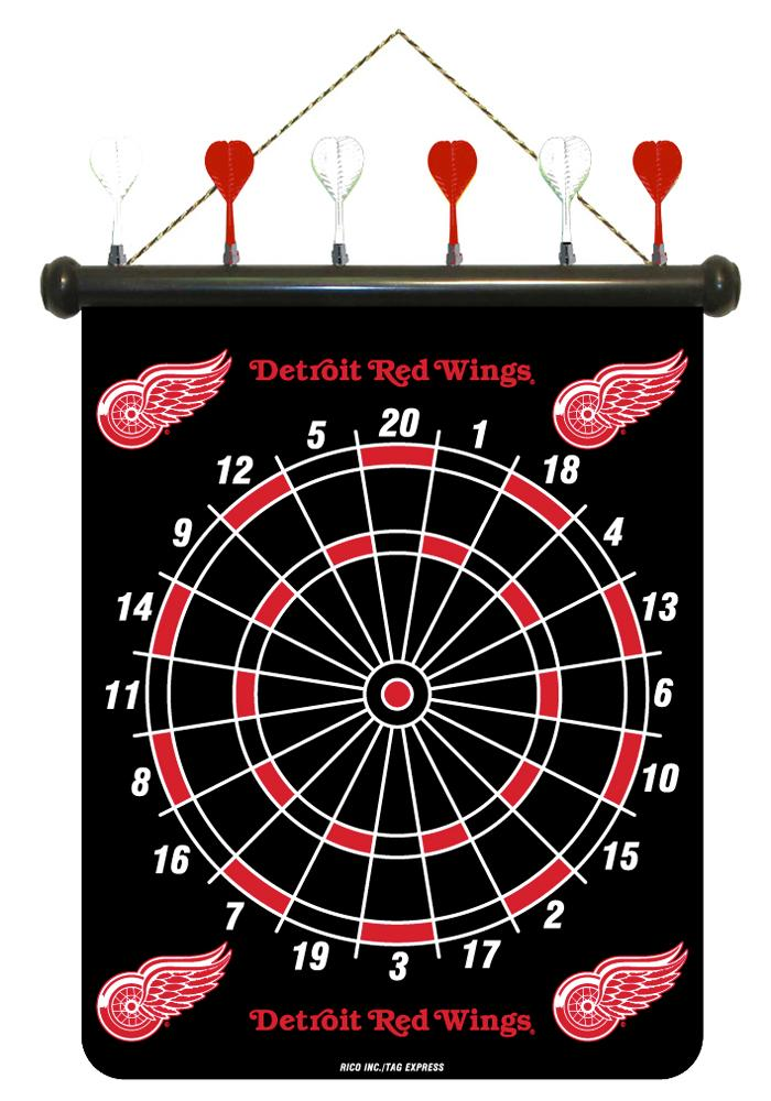Detroit Red Wings Magnetic Dartboard Game - Image 1