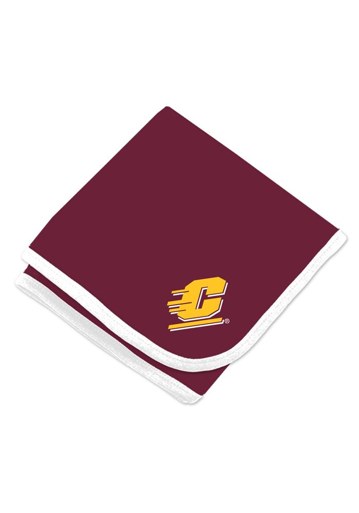 Central Michigan Chippewas Baby Knit Blanket - White