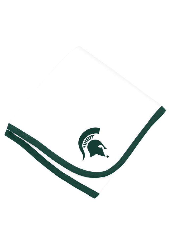 Michigan State Spartans Knit Baby Blanket - Image 1