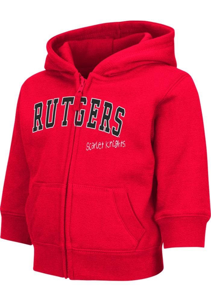 Colosseum Rutgers Scarlet Knights Toddler Red Arch Long Sleeve Full Zip Jacket - Image 2