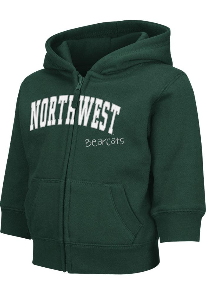 Colosseum Northwest Missouri State Bearcats Toddler Green Arch Long Sleeve Full Zip Jacket - Image 2