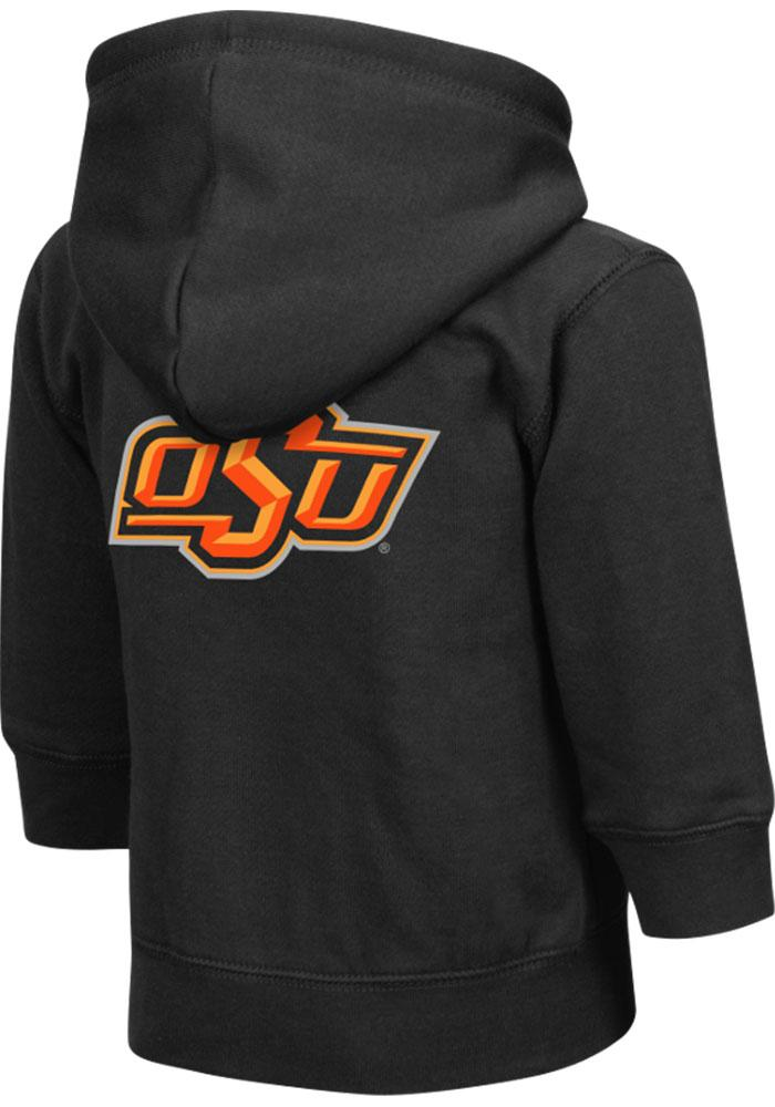 Colosseum Oklahoma State Cowboys Toddler Black Arch Long Sleeve Full Zip Jacket - Image 1