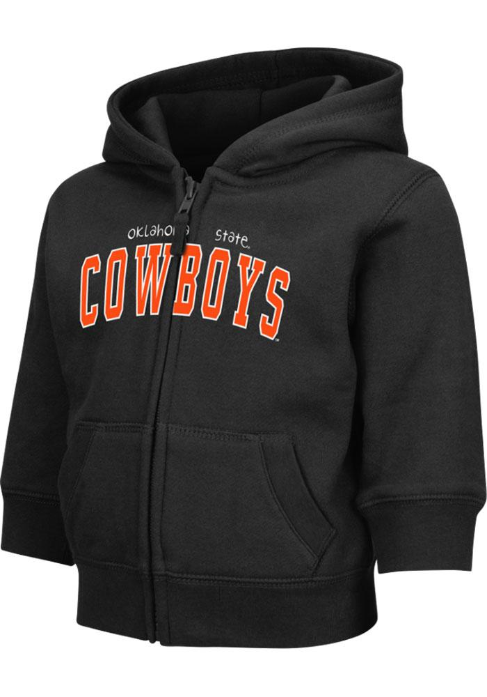 Colosseum Oklahoma State Cowboys Toddler Black Arch Long Sleeve Full Zip Jacket - Image 2