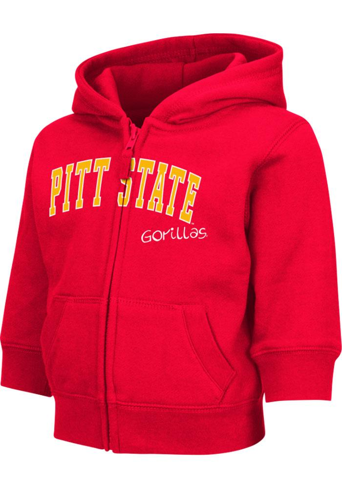 Colosseum Pitt State Gorillas Toddler Red Arch Long Sleeve Full Zip Jacket - Image 2