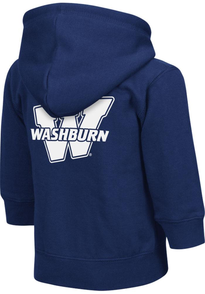 Colosseum Washburn Ichabods Toddler Navy Blue Arch Long Sleeve Full Zip Jacket - Image 2
