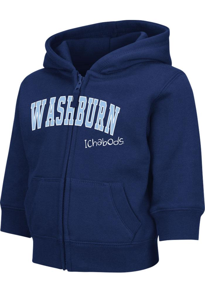 Colosseum Washburn Ichabods Toddler Navy Blue Arch Long Sleeve Full Zip Jacket - Image 3