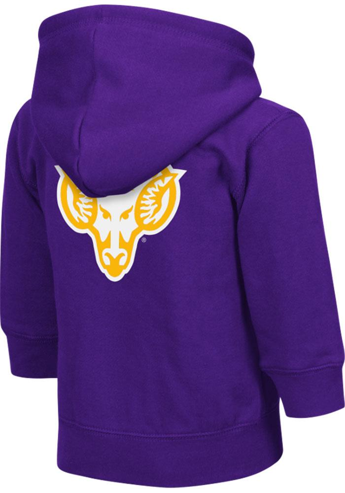 Colosseum West Chester Golden Rams Toddler Purple Arch Long Sleeve Full Zip Jacket - Image 1