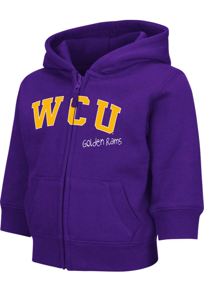 Colosseum West Chester Golden Rams Toddler Purple Arch Long Sleeve Full Zip Jacket - Image 2